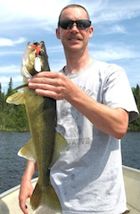 BIG Walleye caught Fishing at Fireside Lodge  in Canada