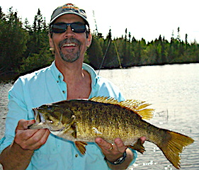 Massive Trophy Smallmouth Bass Fishing at Fireside Lodge in Canada