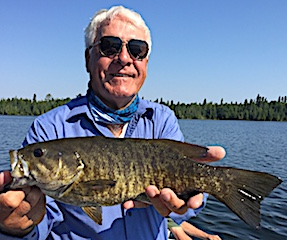 Brother George Fishing for BIG Smallmouth Bass at Fireside Lodge with Jim