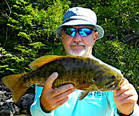 Bunches of Smallmouth Bass Like This Fishing by Jim At Fireside Lodge in Canada