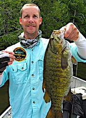 Absolute GIANT Trophy Smallmouth Bass Fishing by Don at Fireside Lodge