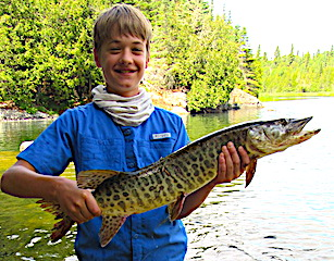 First Muskie Fishing by Brody Pim at Fireside Lodge in Canada