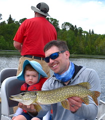 Fishing Northern Pike with Mom Dad and Grandpa