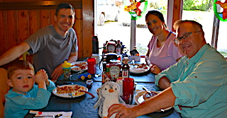 Family Dinner at Fireside Fishing Lodge in Canada by The Capecchi Family