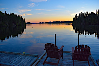 Relax With a Canadian Wilderness Sunset at Fireside Lodge in Canada
