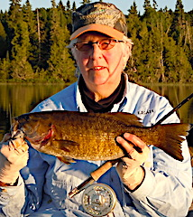 Fly Fishing for Trophy Smallmouth Bass by Leah at Fireside Lodge in Canada
