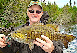 Bronze Back Trophy Smallmouth Bass Fishing at Fireside Lodge in Canada by Jerry