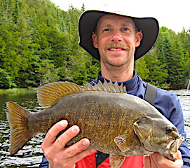 Giant Smallmouth Bass Fishing by Don Landbo at Fireside Lodge in Canada