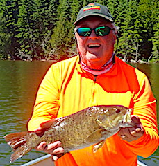 Special Day Trophy Smallmouth Fishing by Ted at Fireside Lodge in Canada