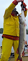 Two Trophy Muskie Fishing at Fireside Lodge in Canada by Jack