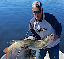 Beauty Trophy Muskie fishing by George Siemer at Fireside Lodge in Canada