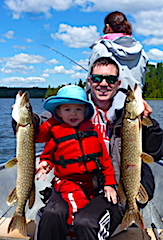 Family Fishing for Northern Pike at Fireside Lodge in Canada