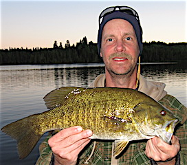 BIG Smallmouth Heaven Fishing at Fireside Lodge by Don
