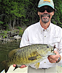 Fishing HUGE Trophy Smallmouth Bass at Fireside Lodge by Bill Calhoon