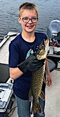 Northern Pike Fishing by Carter at Fireside Lodge in Canada