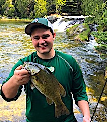 Great Smallmouth Bass Fishing at Fireside Lodge by Jim