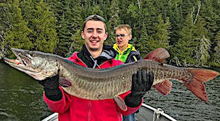 My 2nd Muskie Ever a Trophy Fishing by Braden Dlhy at Fireside Lodge in Canada