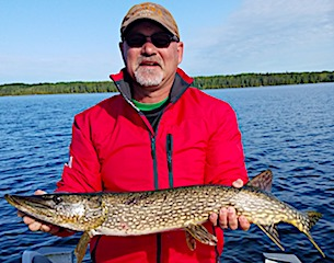 Ed Northern Pike Fishing at Fireside Lodge in Canada
