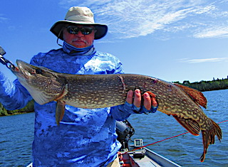 Amazing Fishing at Fireside Lodge in Canada for BIG Northern Pike by Walt