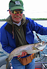 Lake Trout Caught Fishing by David in Canada
