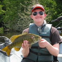 18-inch Smallmouth Bass Fishing at Fireside Lodge by Nathan Mosier