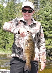 Giant Trophy Smallmouth Bass Fishing at Canada Lodge by Angie Bostic