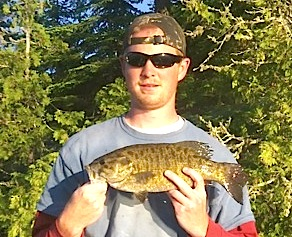 Smallmouth Bass Trophy Fishing at Fireside Lodge is Awesome