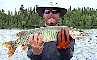 Nothing Better Than Catching Muskie in Canada at Fireside Lodge by Ross
