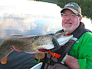 Super 48-inch Trophy Catch Fishing by Dan at Fireside Lodge in Northwest Ontario Canada