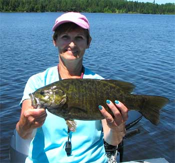 Ladies Fishing for Trophy Smallmouth Bass in Canada