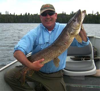 2nd over 40-inch Northern Pike Fishing at Fireside Lodge Canada