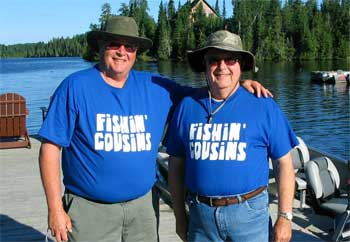 Fishing Cousins at Fireside Lodge Canada