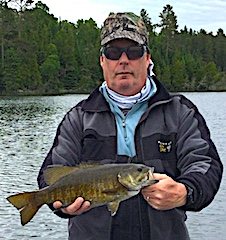 Trophy Smallmouth Bass Fishing by Rob Delamatre at Fireside Lodge in Canada