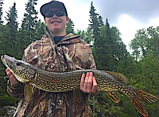 Fishing Northern Pike with Grandpa is GREAT at Fireside Lodge in Canadaby Cole