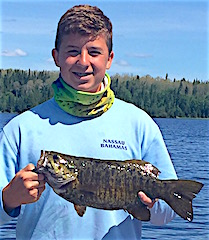 Hunter Fishing for his 1st Trophy Smallmouth Bass