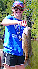 Big Smallmouth Bass Fishing by Katie Noblett