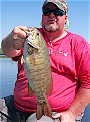 Trophy Smallmouth Bass Fishing by Stacey