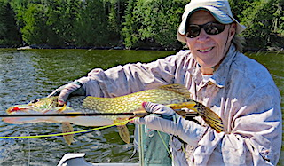 Fly-Fishing for Northern Pike is a Blast by Tom
