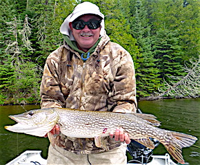 BIG Northern Pike Smile Fishing by Donn Loy