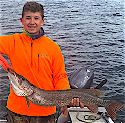 My Biggest Northern Pike Fishing by Hunter Grimes
