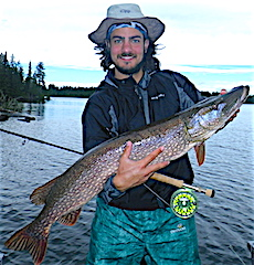 41-inch Trophy Northern Pike Fly-Fishing by Kody Klimes from Phoenix AZ