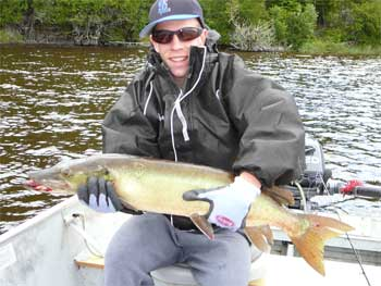 clear muskie in canada lake lodge