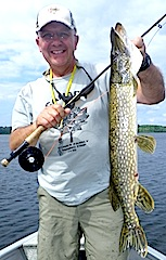 Fly Fishing for Northern Pike at Fireside Lodge Canada
