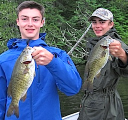 Fast Action Smallmouth Bass Fishing at Fireside Lodge