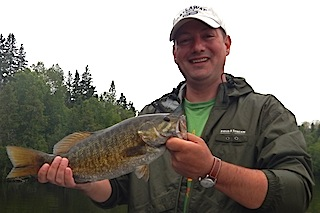 1st Trophy Smallmouth Bass Fishing at Fireside Lodge by Don Bizzaro