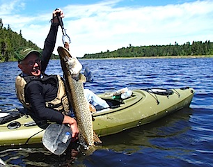 Trophy Northern Pike Kayak Fishing in Canada by Jack Starnes