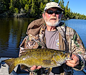 Amazing Trophy Smallmouth Bass Fishing at Fireside Lodge by Al