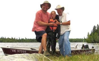 3 Generations Fishing at Fireside Lodge Canada