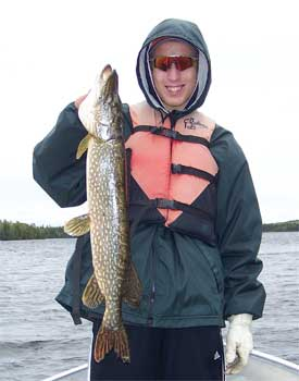 ontario lodge with northern pike