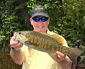 3-Trophy Smallmouth Bass Fishing at Fireside Lodge by Steve